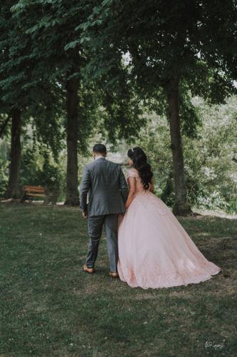 Les mariés au parc